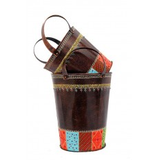 Set of 2 Decorative Buckets