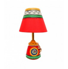 Classy Red Lamp 11 Inches Tall