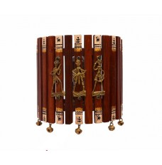 Lighted Warli and Dhokra Work Semi Circular Wall Decorative With Ghungroos
