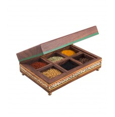 Multipurpose 8 X 5 Inches Rectangular Box (with Six Detachable Compartments)