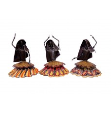 Set of 3 Rural Women Iron Gagra Doll ( 9 Inch Tall)
