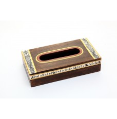 Madhubani Painted Wooden Tissue Box
