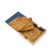Indikala Jaipuri wooden coasters(4)