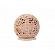 Indikala Marble Tea Light Holder depicting Buddha.