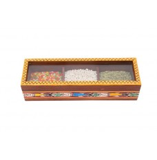 Indikala Multipurpose Rectangular Box with Three Compartments