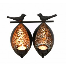 Indikala Twin Birds Tea Light Holder