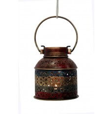 Indikala Iron Jali Tea Light Holder