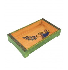 Indikala 12 X 7 Inches  Rectangular Ethnic Tray with Fish Figures