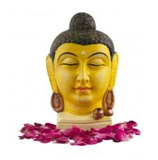 Indikala Buddha Head in Yellow