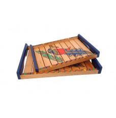 Indikala Set of Two Ethnic Trays