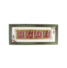 Indikala Framed Horizontal Ethnic Wall Decorative with Dhokra Work