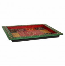 Maharaja Darbar Multicolor Hand-Painted Tray