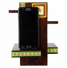 Ethnic Wooden Mobile Phone Stand