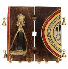 Masai Figure Majestic 4 Key Hook Mangowood Wall Décor
