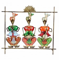 Set of 3 Handcrafted Musicians Wall Décor (14 Inches Tall)