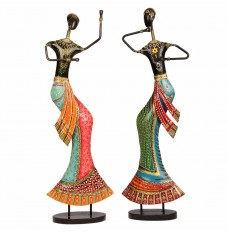 Set of 2 Lady Dancers (20 Inches Tall)