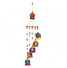 Set of 6 Hanging Bells Good Luck Symbol